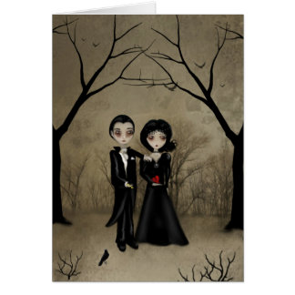 Gotische Romance Gruß-Karte Grußkarte