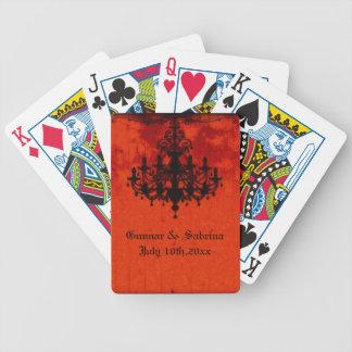 Gotische Romance viktorianische Leuchter-Hochzeit Bicycle Spielkarten