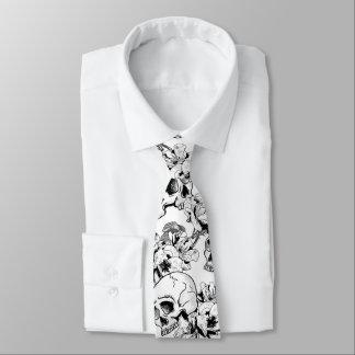 Gotische Schädel-und Rosen-Linie Krawatte
