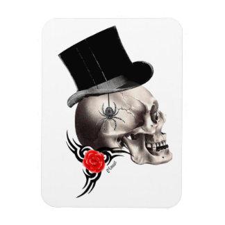 Gotische Schädel- und Rosentätowierungsart Magnet