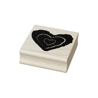 Gotische schmelzende Liebe-Herz-hölzerne Gummistempel