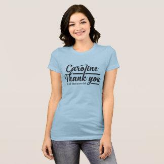 Gotische Schrift danken Ihnen Caroline T-Shirt