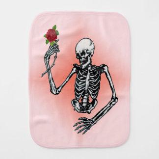 Gotische Skeleton Single-Rote Rose Spucktuch