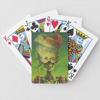 Gotische Skeleton Spielkarten