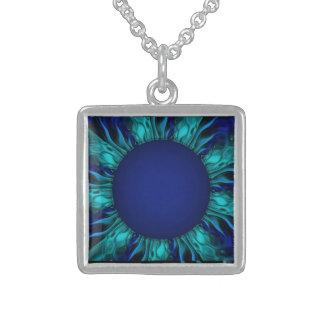 Gotische Sonnenblume Sterling Silberkette