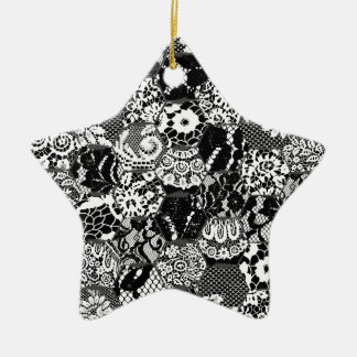 gotische Spitze Keramik Stern-Ornament
