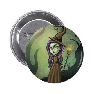 Gotische Steampunk Hexe Runder Button 5,1 Cm