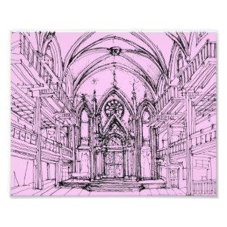 Gotische Synagoge in NYC Fotografischer Druck