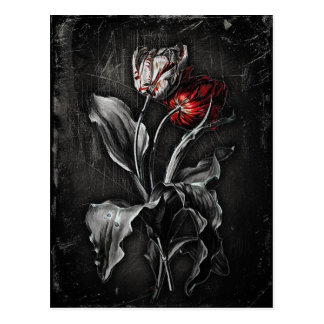 Gotische Tulpen Postkarte
