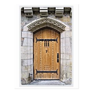 Gotische Tür F Yale Postkarte