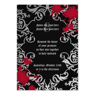 Gotische Vampir Halloween-Hochzeit Karte