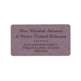 Gotische viktorianische adressaufkleber