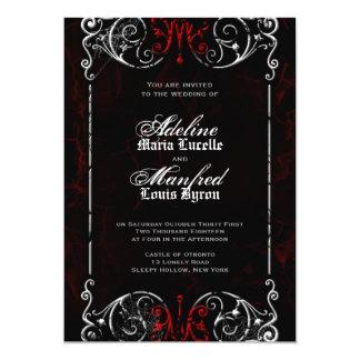 Gotische viktorianische gespenstische rote, 12,7 x 17,8 cm einladungskarte