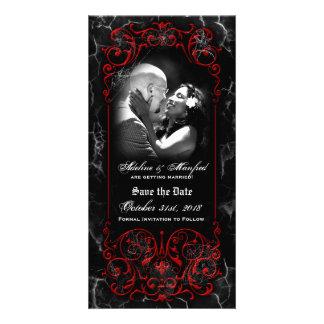 Gotische viktorianische gespenstische rote fotokarte