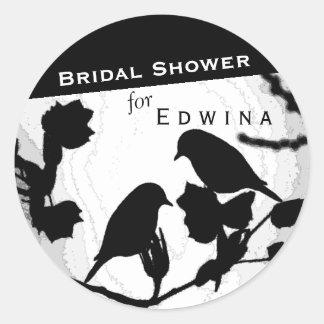 Gotische Vogel-Silhouette-Brautparty-Aufkleber Runder Aufkleber