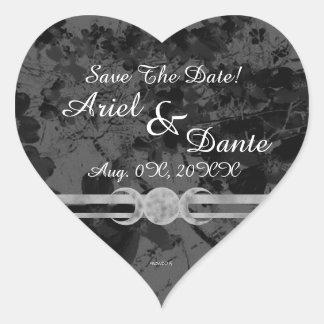 Gotischer dreifacher Mond Wedding Handfasting Herz-Aufkleber