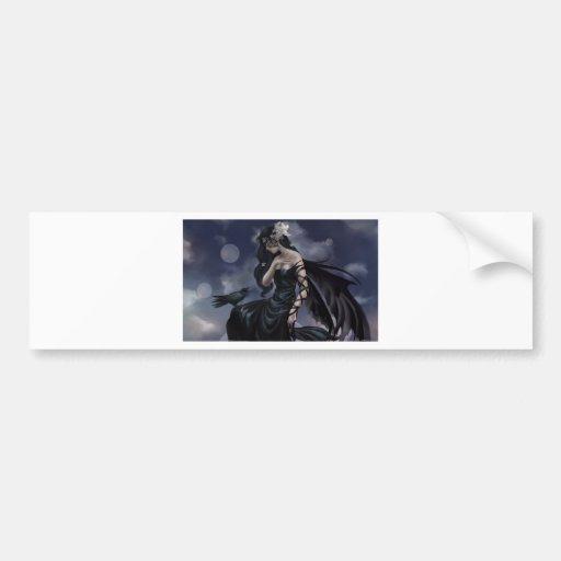 Gotischer Engel Auto Sticker