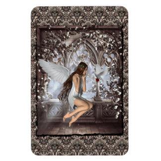 Gotischer Engel und ihre Taube Flexibler Magnet