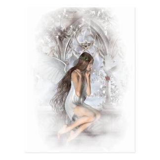 Gotischer Engel und ihre Tauben-Vignette Postkarten