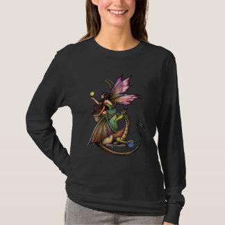 Gotischer feenhafter Drache-langer Hülsen-T - T-Shirt