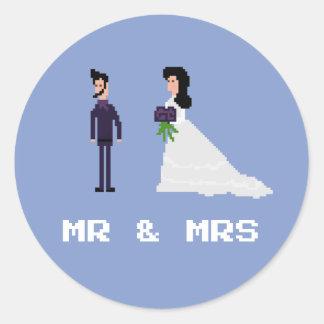 gotischer Herr u. Frau Wedding Marriage des Runder Aufkleber