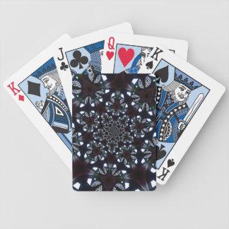 Gotischer kaleidoskopischer blauer schwarzer bicycle spielkarten