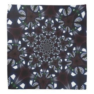 Gotischer kaleidoskopischer blauer schwarzer halstuch