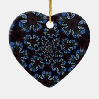 Gotischer kaleidoskopischer blauer schwarzer keramik ornament