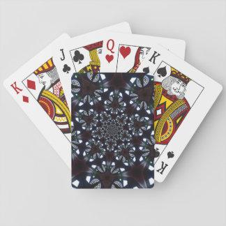 Gotischer kaleidoskopischer blauer schwarzer spielkarten