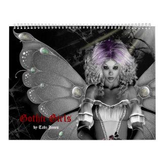 Gotischer Kalender der Mädchen-2018