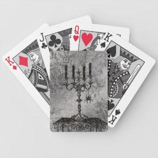 Gotischer Kerzenständer mit Spinne, Halloween Bicycle Spielkarten