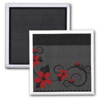 Gotischer Kokeshi Kimono-Entwurfs-Magnet Quadratischer Magnet