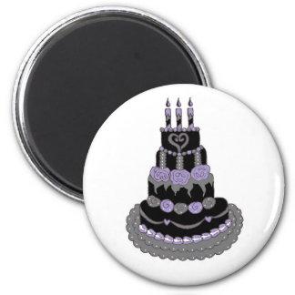 Gotischer lila Geburtstags-Kuchen Kühlschrankmagnet