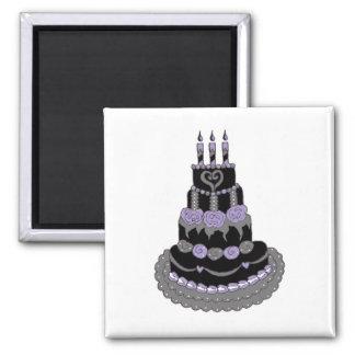 Gotischer lila Geburtstags-Kuchen Magnete
