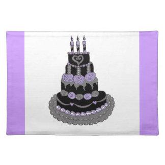 Gotischer lila Geburtstags-Kuchen Tisch Set
