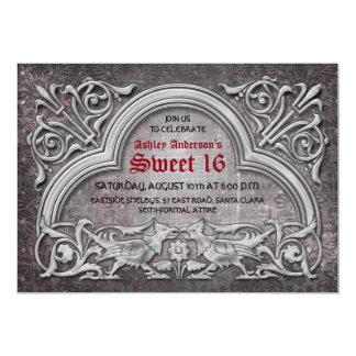 Gotischer mittelalterlicher Bonbon 16 12,7 X 17,8 Cm Einladungskarte
