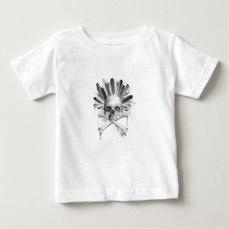 Gotischer Schädel der Stammes- Art - Kreuz Baby T-shirt