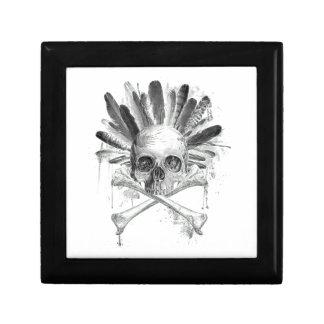 Gotischer Schädel der Stammes- Art - Kreuz Erinnerungskiste