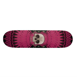Gotischer Schädel-Stammes- Fraktal Design: Skatebo 18,1 Cm Old School Skateboard Deck