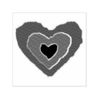 Gotischer schmelzender Liebe-Herz-Selbst, der Permastempel