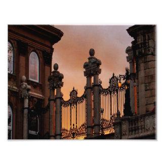 Gotischer Sonnenuntergang in Budapest Photo Drucke