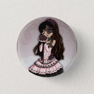 Gotischer Spitze-Braut-Knopf 1 Runder Button 3,2 Cm