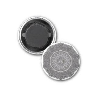Gotischer Steinmetzarbeit-Magnet Runder Magnet 2,5 Cm