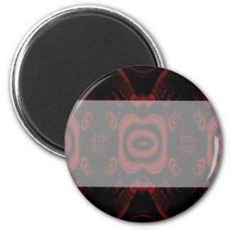 Gotischer tiefroter und schwarzer Blumenentwurf Runder Magnet 5,7 Cm