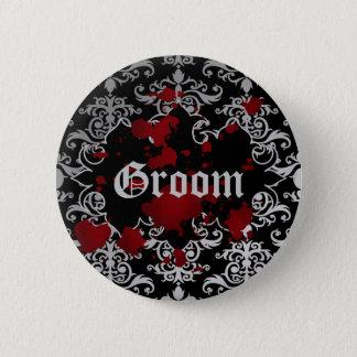Gotischer viktorianischer Bräutigam Runder Button 5,1 Cm