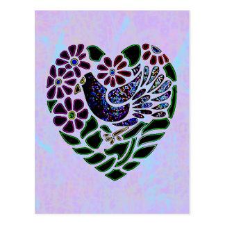 Gotischer Vogel im Herzen Postkarte