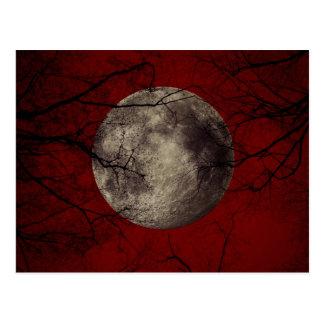 Gotischer Vollmond mit frequentierenden Bäumen Postkarte