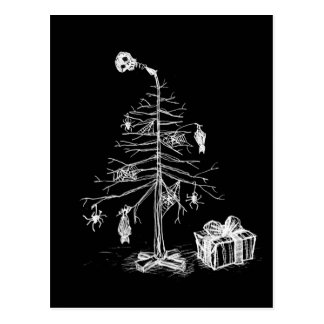 Gotischer Weihnachtsbaum Postkarte