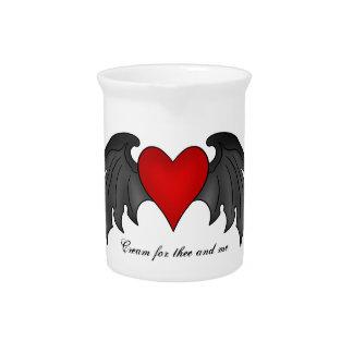 Gotischer winged Herz Valentinstag Krug