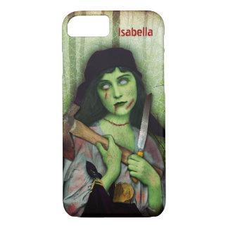 Gotischer Zombie-Mädchen-Halloween-Horror-Name iPhone 8/7 Hülle